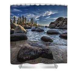 Sand Harbor II Shower Curtain
