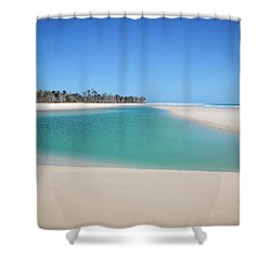 Sand Island Paradise Shower Curtain