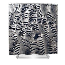 Sand Patterns Shower Curtain by Michele Cornelius