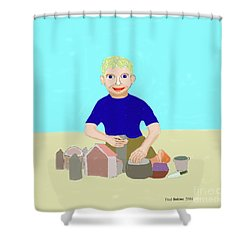 Sand Sculptor Shower Curtain by Fred Jinkins