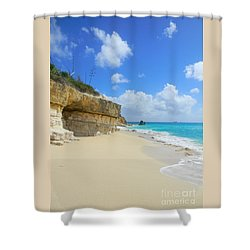 Sand Sea And Sky Shower Curtain by Expressionistart studio Priscilla Batzell