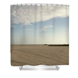 Sand Storm At St. Pete Beach Shower Curtain by Gail Kent