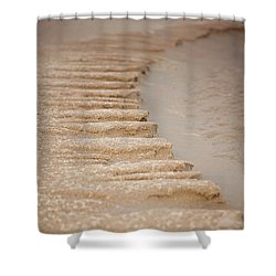 Sand Texture Shower Curtain by Sally Simon