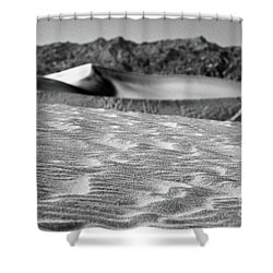 Shower Curtain featuring the photograph Sand Waves by Suzanne Oesterling