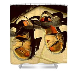 Sandals In Cabo Sun Shower Curtain by Gerhardt Isringhaus