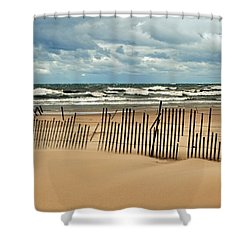 Sandblasted Shower Curtain