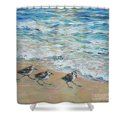 Sanderlings Running Shower Curtain