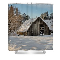 Sanders Barn Shower Curtain