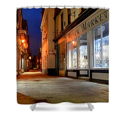 Sandgate, Whitby At Night Shower Curtain