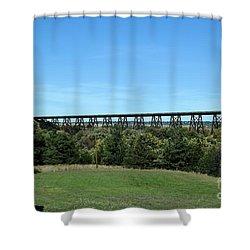 Shower Curtain featuring the photograph Sandhills Railroad Bridge  by Mark McReynolds