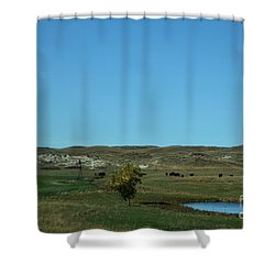 Shower Curtain featuring the photograph Sandhills Ranch by Mark McReynolds