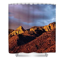 Shower Curtain featuring the photograph Sandia Beauty by Gina Savage