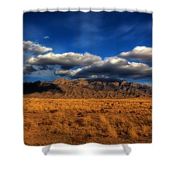 Sandia Crest In Late Afternoon Light Shower Curtain