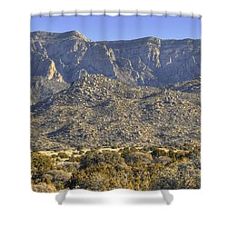 Sandia Mountain Panorama Shower Curtain