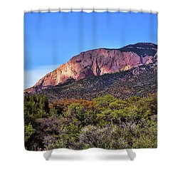 Shower Curtain featuring the photograph Sandia Sunset by Gina Savage