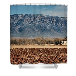 Shower Curtain featuring the photograph Sandias - Los Poblanos Fields by Nikolyn McDonald