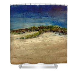 Sandilands Beach - Overcast Day Shower Curtain