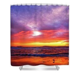 Sandpiper Sunset Ventura California Shower Curtain