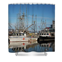 Shower Curtain featuring the photograph Sandra M And Lasqueti Dawn by Randy Hall