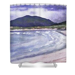 Shower Curtain featuring the painting Sands, Harris by Richard James Digance