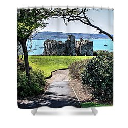 Sandsfoot Castle Weymouth Uk Shower Curtain