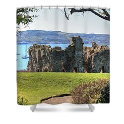 Sandsfoot Castle With Portland Shower Curtain