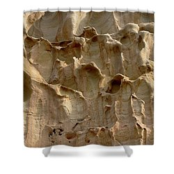Shower Curtain featuring the photograph Sandstone Cliff - 2 by Christy Pooschke