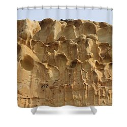 Shower Curtain featuring the photograph Sandstone Cliff - 3 by Christy Pooschke