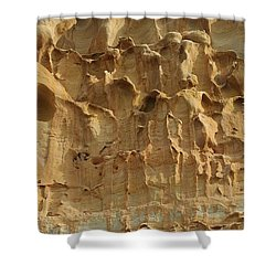 Shower Curtain featuring the photograph Sandstone Cliff - 4 by Christy Pooschke