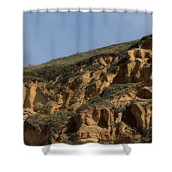Shower Curtain featuring the photograph Sandstone Cliff - 5 by Christy Pooschke