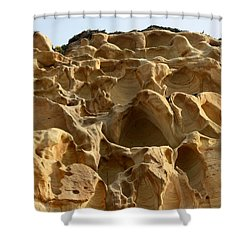 Shower Curtain featuring the photograph Sandstone Cliff  by Christy Pooschke