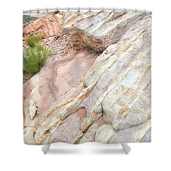 Shower Curtain featuring the photograph Sandstone Cove In Valley Of Fire by Ray Mathis