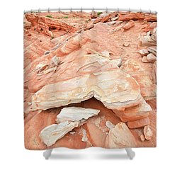 Shower Curtain featuring the photograph Sandstone Heart In Valley Of Fire by Ray Mathis