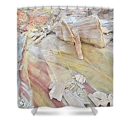 Sandstone Rainbow In Valley Of Fire Shower Curtain