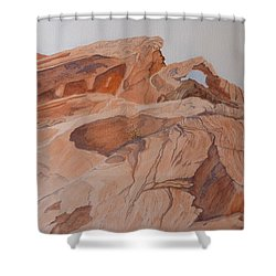 Sandstone Rainbow Shower Curtain by Joel Deutsch