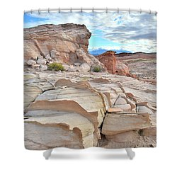 Sandstone Staircase In Valley Of Fire Shower Curtain