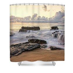 Sandy Beach Sunrise 3 - Oahu Hawaii Shower Curtain by Brian Harig
