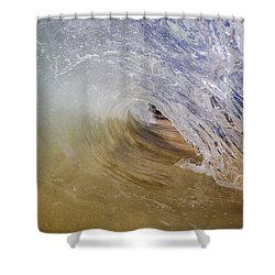 Sandy Beachbreak Wave Shower Curtain