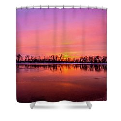 Sandy Chute Sunset Shower Curtain