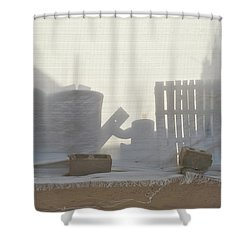 Sandy City Shower Curtain by Michel Verhoef