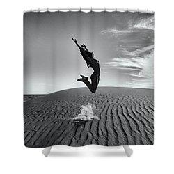 Sandy Dune Nude - The Jump Shower Curtain