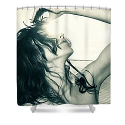 Sandy Dune Nude - The Woman Shower Curtain