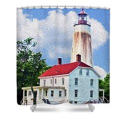 Sandy Hook Light House Shower Curtain