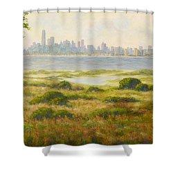 Sandy Hook View Shower Curtain