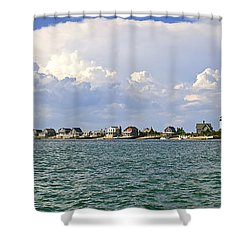 Sandy Neck Cottage Colony Shower Curtain by Charles Harden