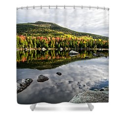 Reflection Sandy Stream Pond Me. Shower Curtain