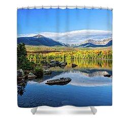 Sandy Stream Pond Baxter Sp Maine Shower Curtain by Michael Hubley