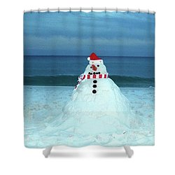 Sandy The Snowman Shower Curtain