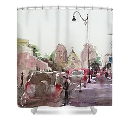 Sanfransisco Street Shower Curtain by Becky Kim