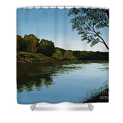 Sangamon Solitude Shower Curtain